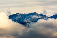 Mountains Peering Thru The Clouds-1