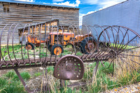 Horse Drawn Hay Rake & Old Harvester Tractors-1